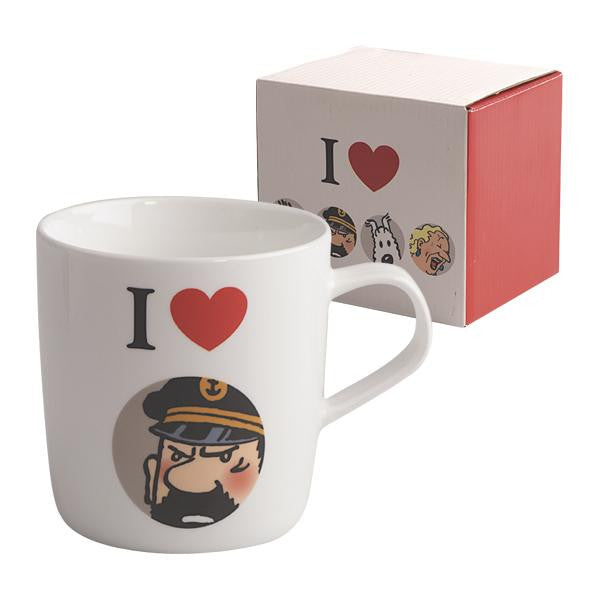 Tintin Mug: I Love Captain Haddock