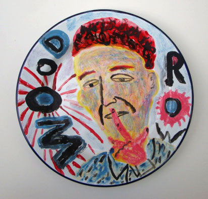 Painted Enamel Plate: Woodrow
