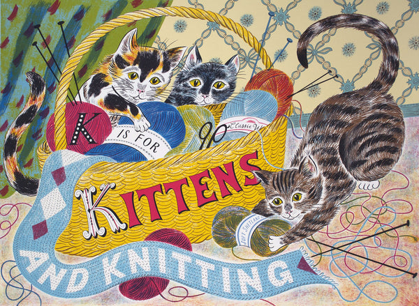 K is for Kittens and Knitting