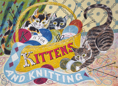 Emily Sutton - K is for Kittens and Knitting
