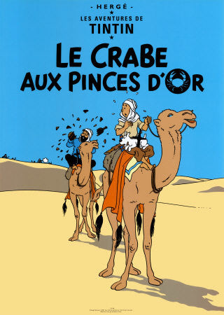 Tintin - Tintin Poster: Le Crabe Aux Pinces D'Or