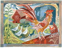 Mark Hearld - Rooster and Railway Carriage