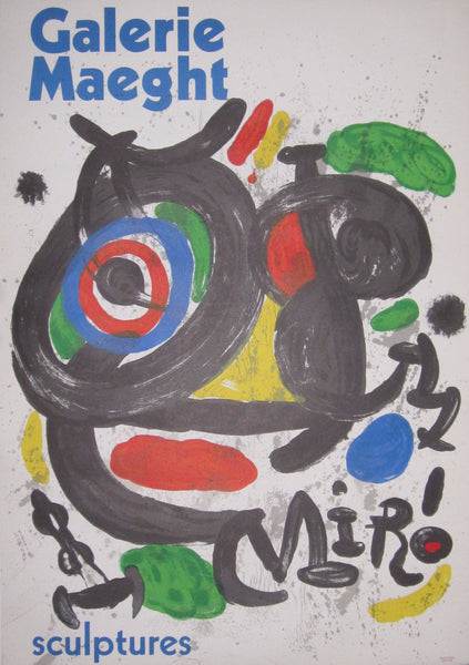 Joan Miro: Original Exhibition Poster: Galerie Maeght: Sculptures