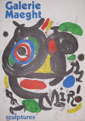 Joan Miro - Joan Miro: Original Exhibition Poster: Galerie Maeght: Sculptures