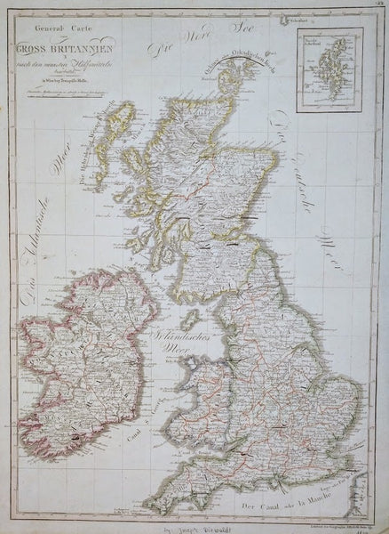 General Carte Von Gross Britannien, 1807 bey Tranquillo Mollo