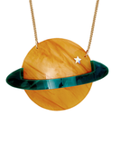 Planet Necklace - Amber