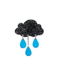 Raincloud - Large Glitter Brooch