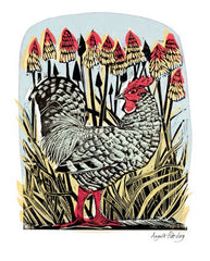 Angela Harding - Chicken And Red Hot Pokers