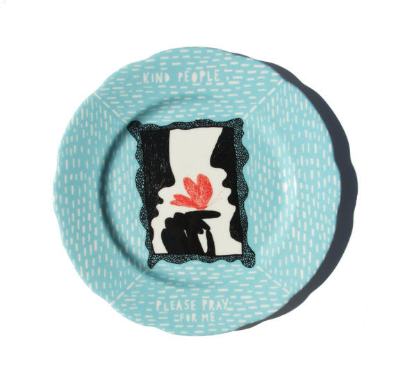 Kind People Butterfly Ceramic Plate
