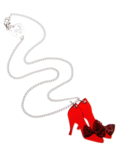Ruby Slippers Necklace