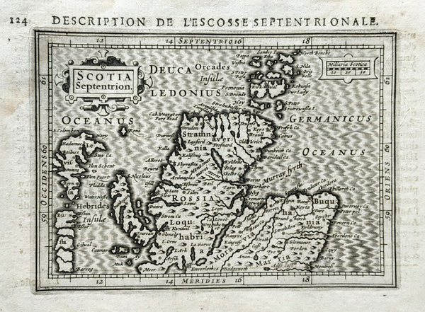 Scotland: Scotia: Description de L'Ecosse Septentrionale by Petrus Bertius & Jodocus Hondius, 1618.