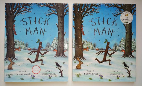 Donaldson, Julia & Scheffler, Axel - Stick Man Uncorrected Bound Proof & First Edition: Two Volumes by Julia Donaldson & Axel Scheffler
