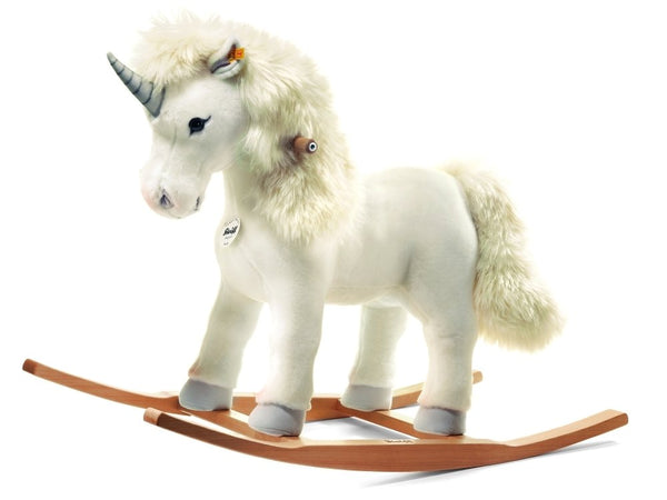 Steiff Plush White Starly Riding Unicorn: 048913 Size 70cm Tall