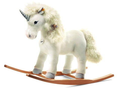 Margarete Steiff - Steiff Plush White Starly Riding Unicorn: 048913 Size 70cm Tall