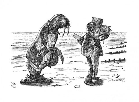 Sir John Tenniel for Lewis Carroll - 'The Walrus and the Carpenter were walking close at hand...'
