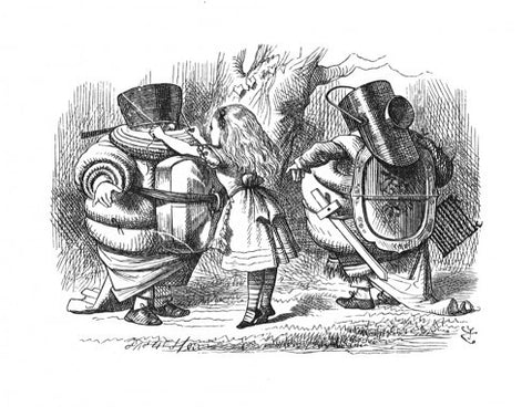 Sir John Tenniel for Lewis Carroll - 'Do I look very pale?' said Tweedledum