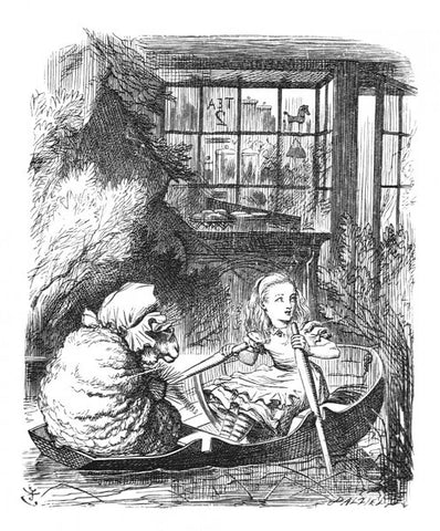 Sir John Tenniel for Lewis Carroll - 'They hadn't gone much farther before the blade of one of the oars...'