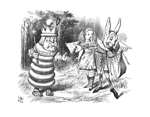 Sir John Tenniel for Lewis Carroll - 'I feel faint - Give me a ham sandwich!'