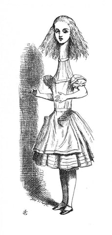Sir John Tenniel for Lewis Carroll - 'Curiouser and curiouser! cried Alice...'