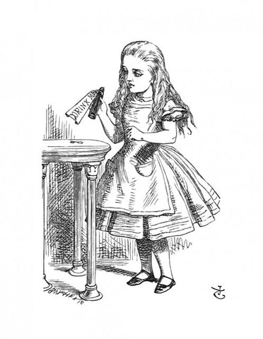 Sir John Tenniel for Lewis Carroll - 'Tied around the neck of the bottle...'