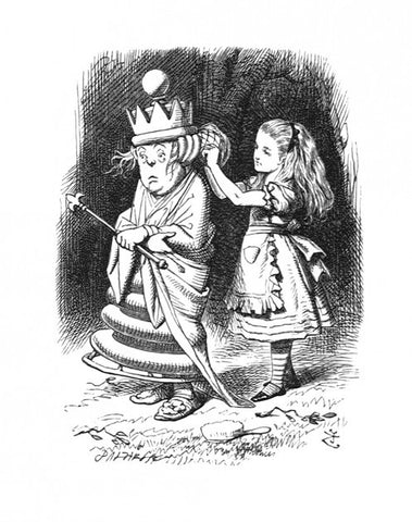 Sir John Tenniel for Lewis Carroll - 'It can't go straight, you know...'