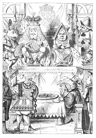 Sir John Tenniel for Lewis Carroll - 'The King and Queen of Hearts were seated...'