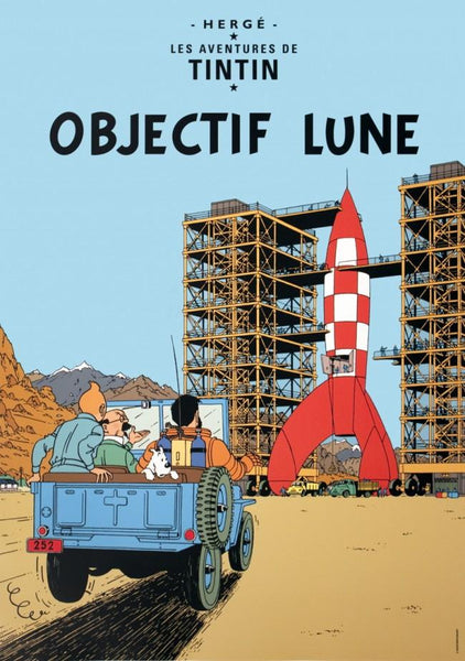 Tintin Poster: Objectif Lune