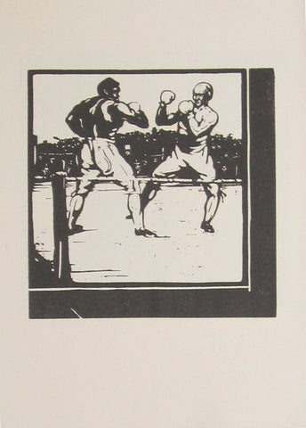William Nicholson - An Almanac Of Twelve Sports: November: Boxing (Unused Version)