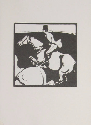 William Nicholson - An Almanac Of Twelve Sports: January: Hunting