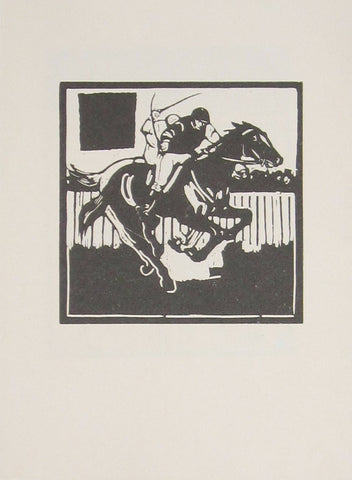 William Nicholson - An Almanac Of Twelve Sports: March: Racing (Unused Version)