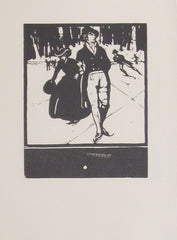 William Nicholson - An Almanac Of Twelve Sports: December: Skating (Unused Version)
