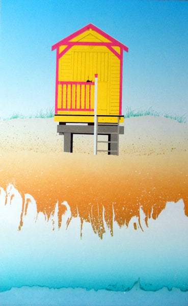 Yellow And Pink Beach Huts, Wells