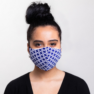 Light-weight Blue links Washable Mask