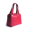 Dark fuchsia leather handbag