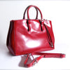 Cherry red satin patent leather bag
