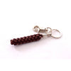 Brown leather classic scoubidou keyring