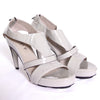 Patent light grey sandals