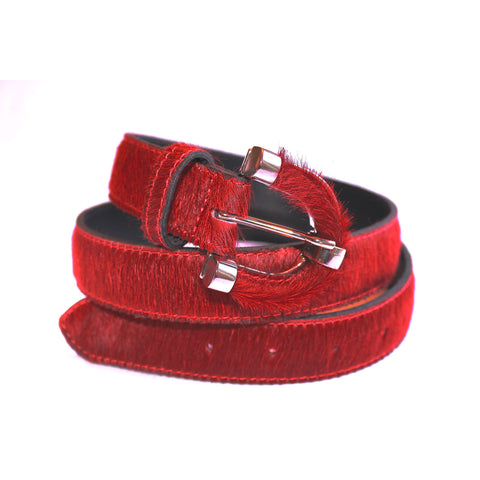 Red fur belt