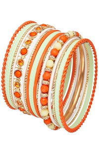 Queensbury Orange Bangles
