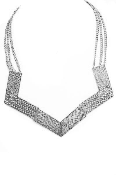 Cresta Silver Hinged Necklace
