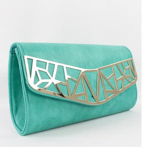 Avenida Clutch in Teal