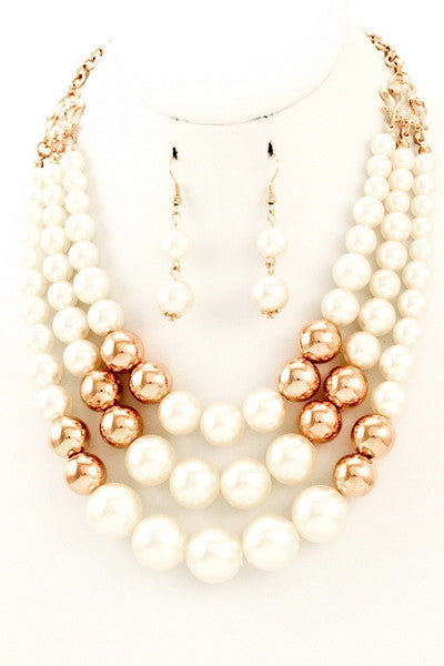 Ashton Pearl Necklace & Earrings