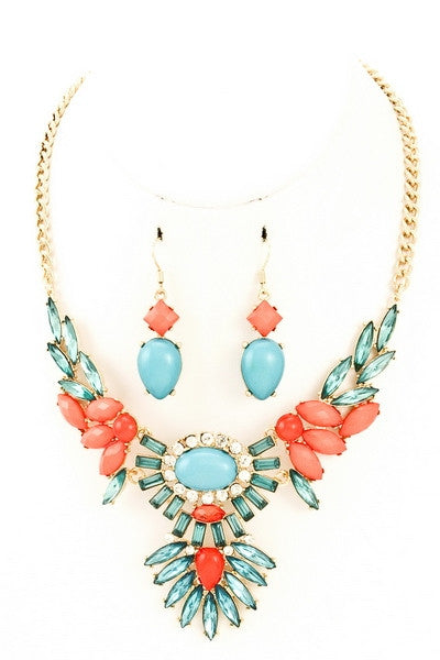 Loring Necklace & Earrings