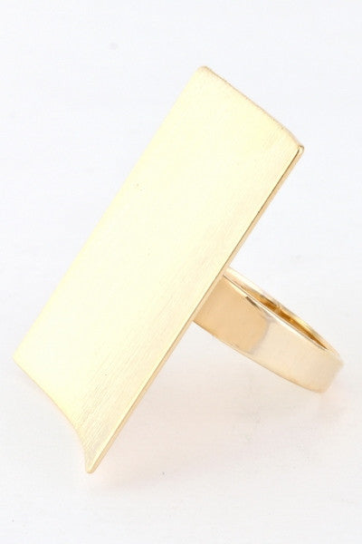 Venus Matte Gold Ring