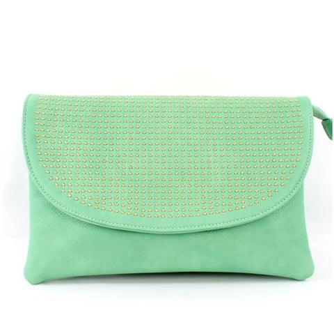 Ramona Clutch in Mint