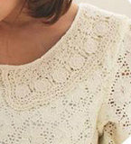 Catalina Ivory Lace Top