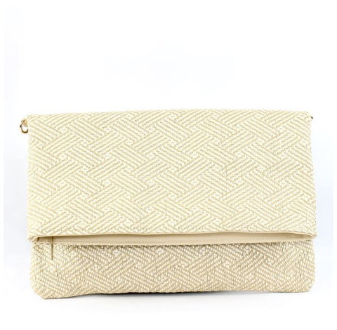 Ellis Clutch in Beige