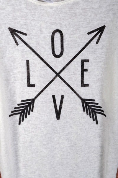 """Love"" Graphic Knit Tee"