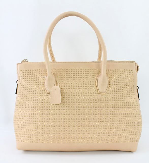 Valdina Satchel Handbag in Beige