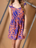 Esther Coral Printed Dress